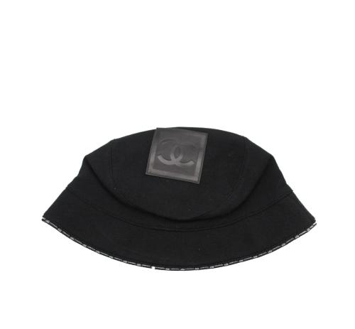 Chanel black towel hat