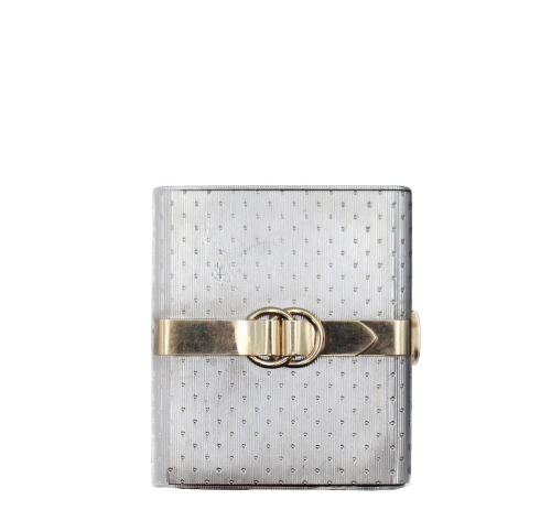 Hermes gold and silver vintage compact