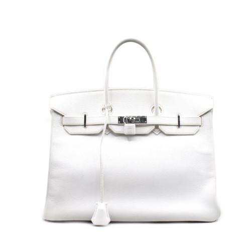 White Hermes Birkin 35