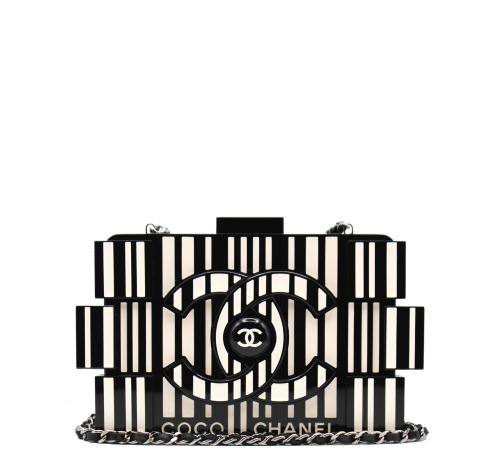 Chanel OP ART Minaudière clutch with trap
