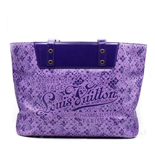 Louis Vuitton Murakami violet tote bag
