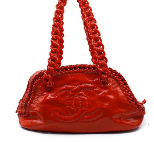 Chanel Orange Bowling bag