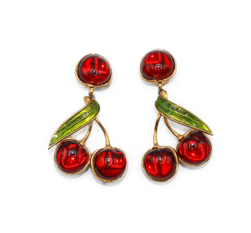 Sonia Rykiel Cherry earrings