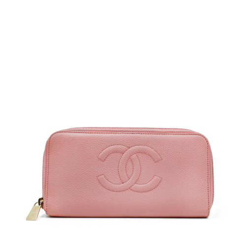 Chanel Pink Compact Wallet