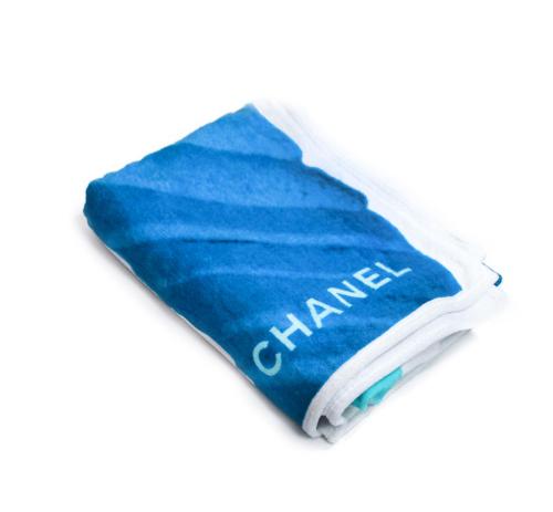 Chanel blue beach towel