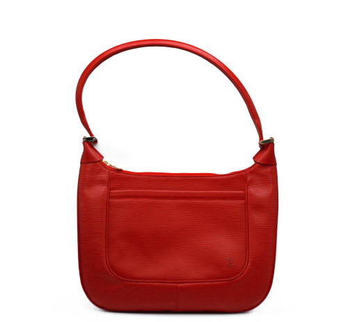 Red epi leather Vuitton bag