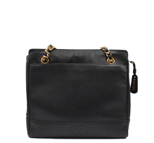 Chanel Black shopper bag
