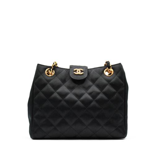Chanel silk evening bag