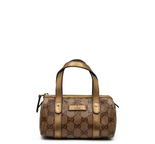 Nano Gucci golden Boston bag