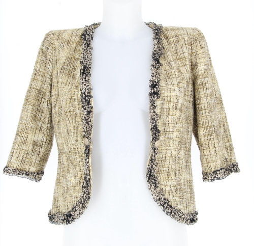 Chanel Tweed beige jacket 2003 collection