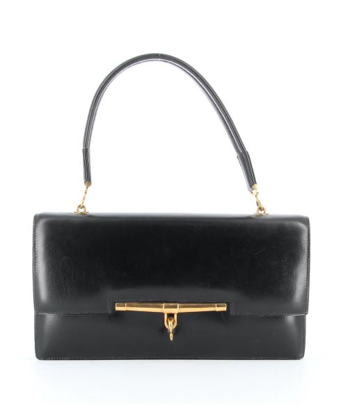 Hermes black vintage Palonnier bag