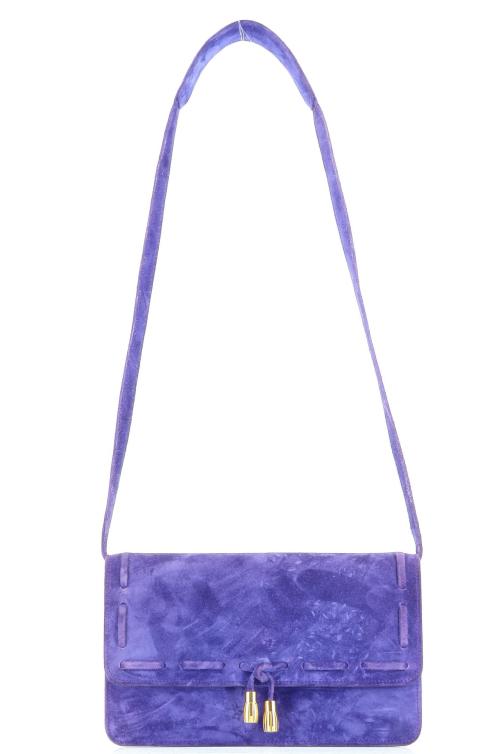 Hermes Mocassin bag in violet daim