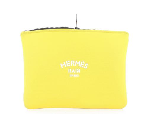 Hermes Bains size neoprene pouch