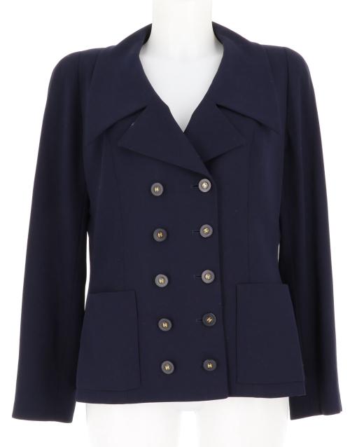 Chanel Dark Blue Jacket Size 38