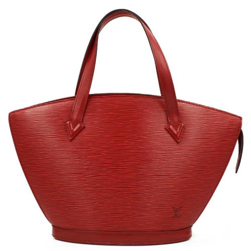 Louis Vuitton Red Epi Saint Jacques bag