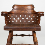 A pair of early 19th  century oak armchairs