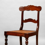 A set of eight 19th century rosewood dining chairs including two carvers