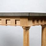 An oak reproduction side table