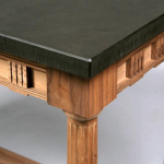 A walnut reproduction side table