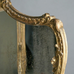 A Victorian carved giltwood triple frame mirror