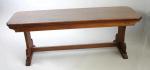 A pair of mahogany benches early 20th century