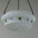 A 20th century opaque glass shade