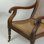 A 19th century colonial armchair