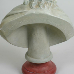 A 19th century plaster bust of John Locke (1632-1704) Inscribed on the reverse