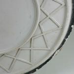 A 20th century plaster ceiling geometric design rose