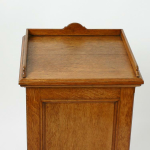 A 19th century oak bedside cupboard