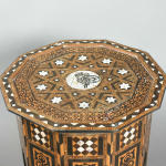 Ten-sided inlaid ottoman table inlaid