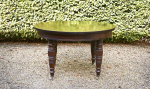 A late Victorian mahogany circular Jupe type dining table
