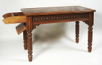 A Victorian oak metamorphic library table