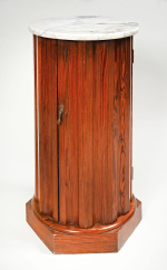 Victorian Pitch Pine round pot cupboard