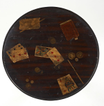 An unusual Regency painted occasional table