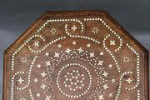A 19th century Anglo Indian Hoshiarpur bone inlaid table with octagonal top