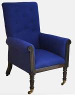 Mahogany upholstered armchair