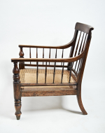 19th century simulated rosewood library chair