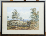 2 prints woodland scenes