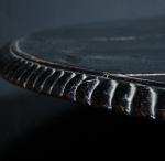 Large ebonised pine 19th century oval table