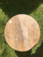 Early 19th century occasional table with stone top (regilded)