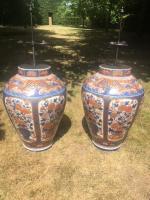 Large pair of imari pots