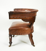 A 19th century library chair