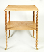 Oak bobbin 2 tier table