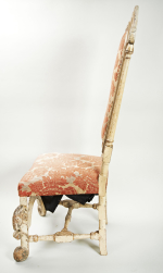 William & Mary period white painted side chair