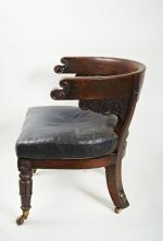 Early 19th century Mahogany Library Chair