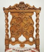 Six pale oak chairs