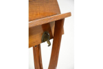 A Victorian Gothic folding pine occasional table