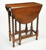 Small oak gateleg table