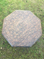 Anglo Indian carved octagonal table